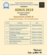 IGNUS 2K19 (Management Fest) BBA-IB